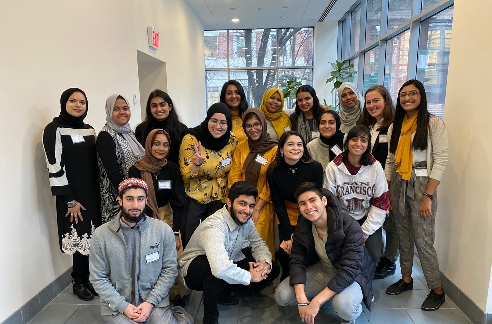Diverse group of Muslim undergraduate students at Columbia and Barnard.